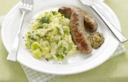 Sausages with Winter Veg Mash